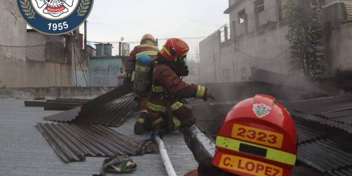 Se registra incendio en vivienda de zona 3 de Mixco