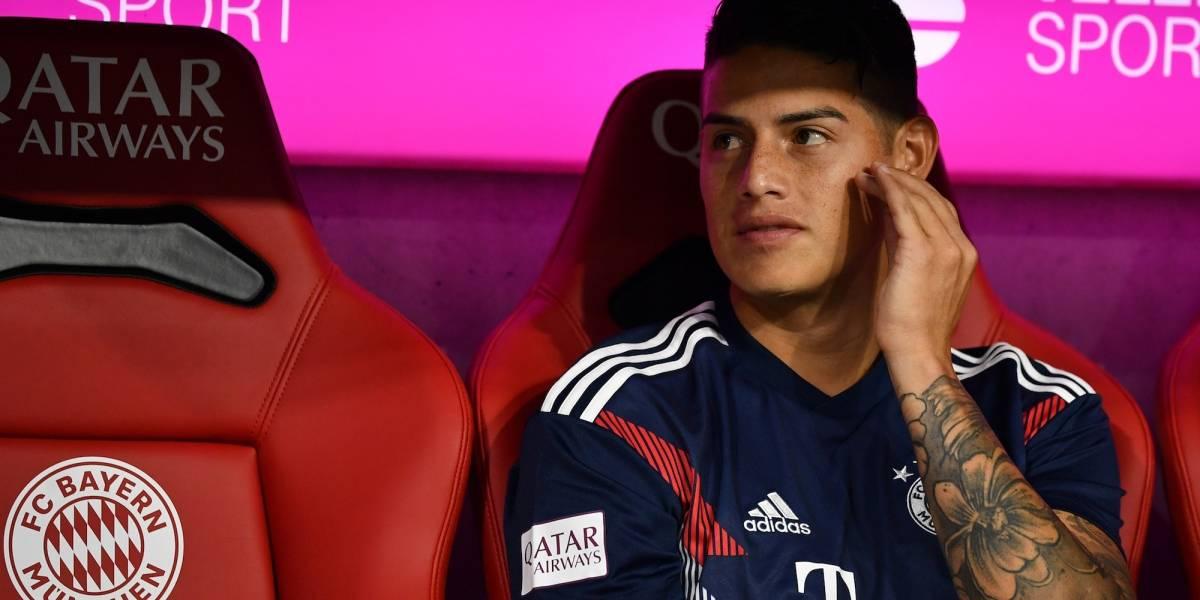 Reportan ataque de ira de James en el vestidor del Bayern Munich