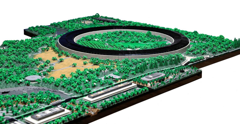 Alguien recreó el Apple Park con 85 mil bloques de LEGO