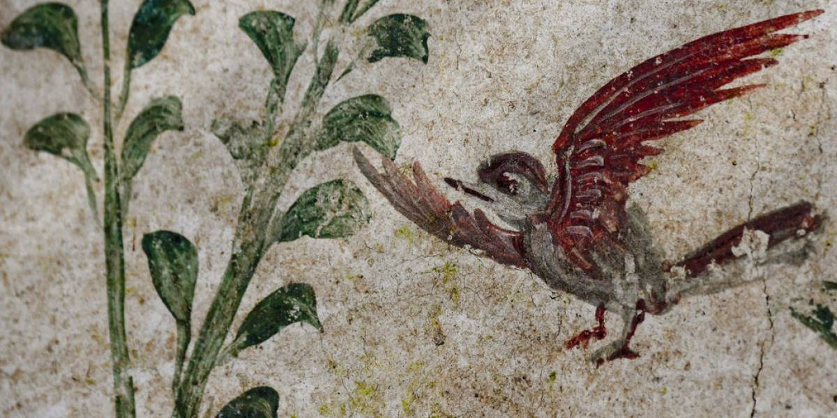 Excavación en Pompeya descubre antigua pintura de jardín