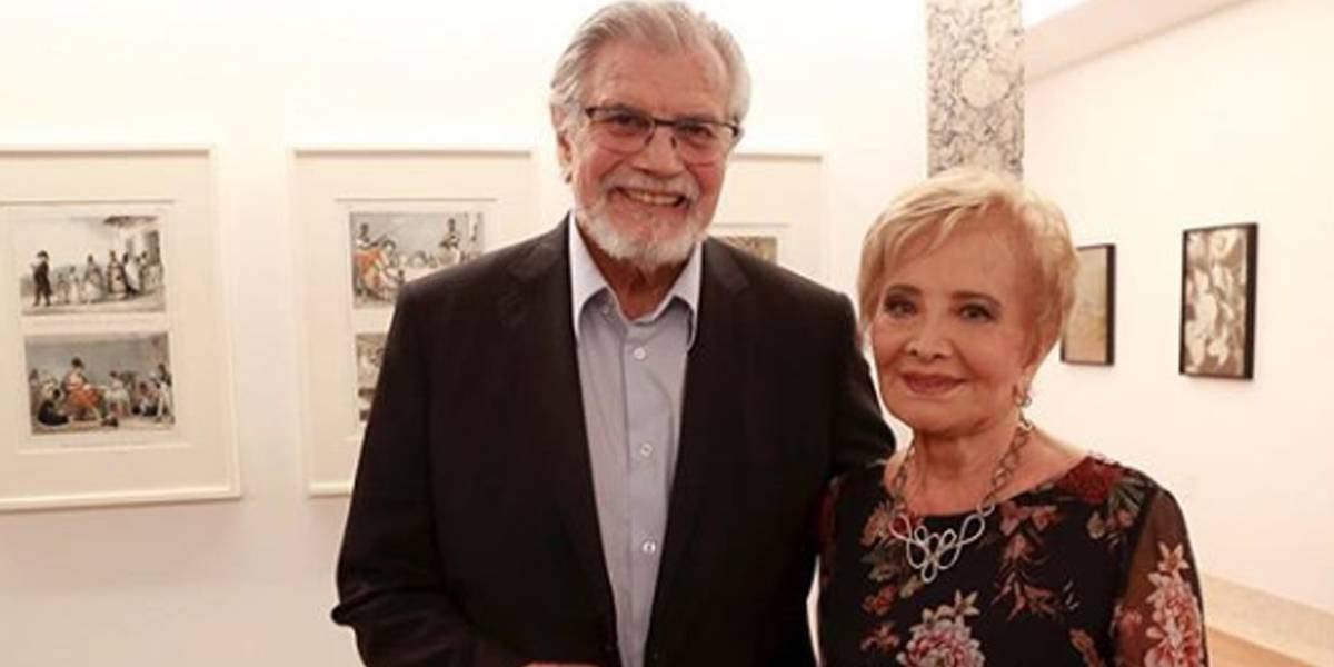Glória Menezes homenageia Tarcísio Meira por seu aniversário