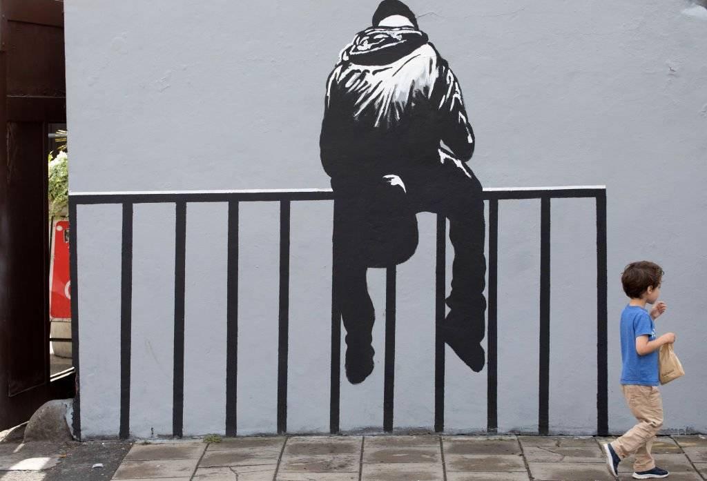 """Banksy reconoció la influencia de Blek diciendo """"cada vez que creo que he pintado algo ligeramente original, me doy cuenta de que Blek le Rat lo hizo mejor, sólo que veinte años antes Foto: Getty Images"""
