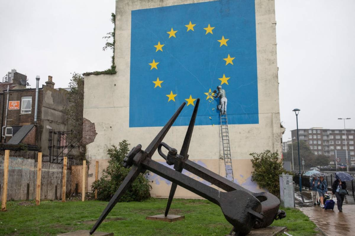 Banksy oculta su identidad real a la prensa general. Foto: Getty Images