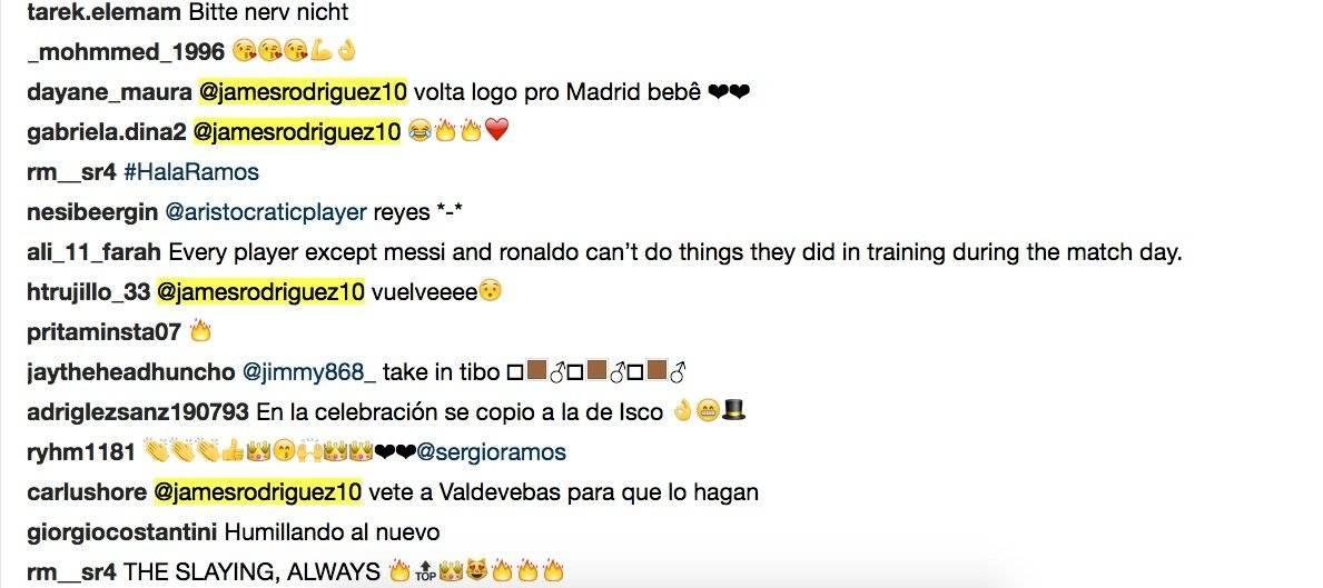 4. Piden que James vuelva a Real Madrid