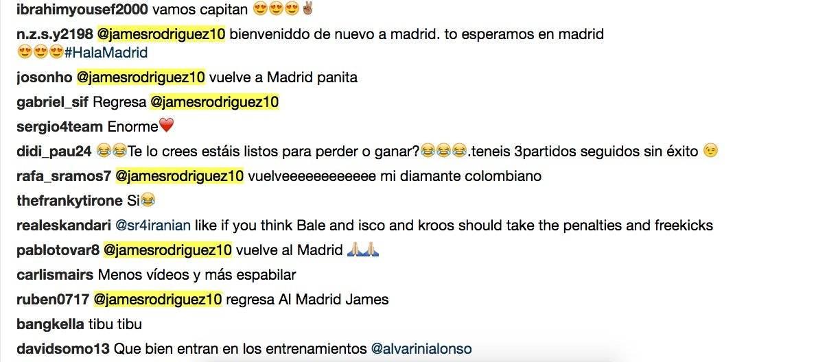 1. Piden que James vuelva a Real Madrid