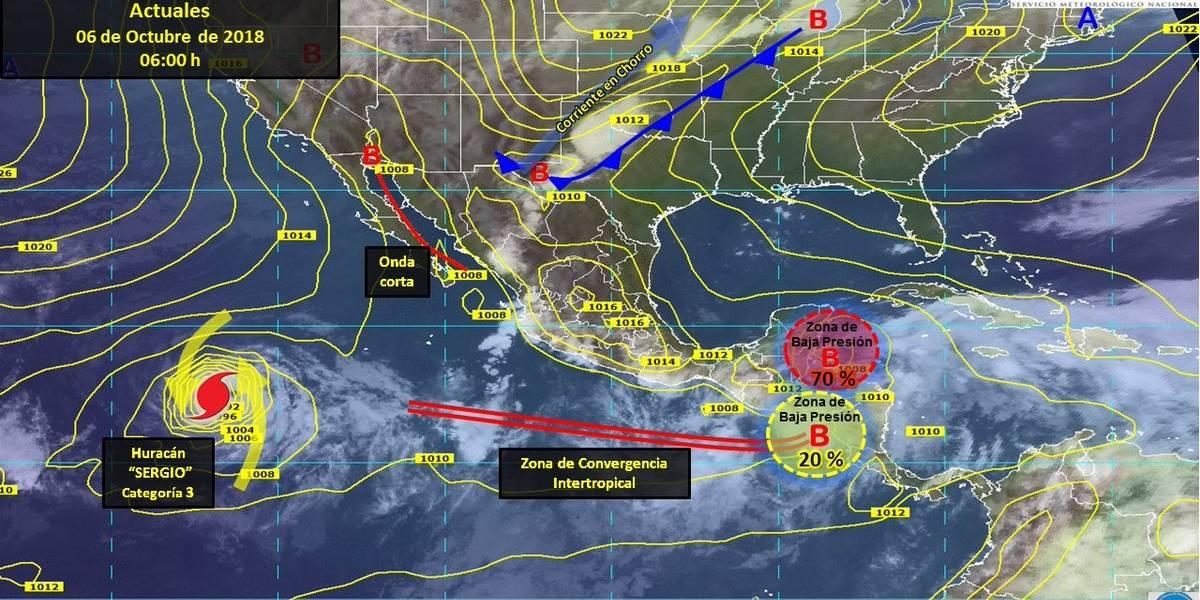 Al menos 3 estados tendrán lluvias fuertes este sábado: SMN