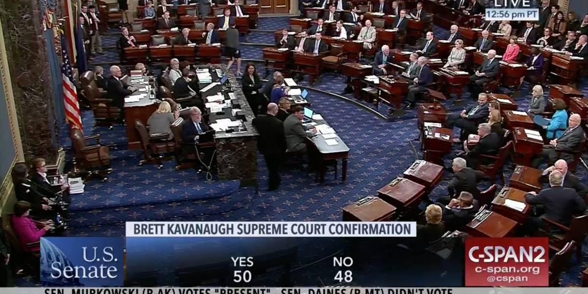 Senado de EEUU confirma a Brett Kavanauhg en la Corte Suprema de Justicia