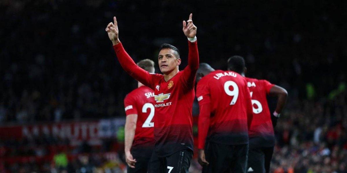 ¡A lo Zamorano! Alexis puso fin a su mala racha con un agónico gol que le da vida al United y a Mourinho