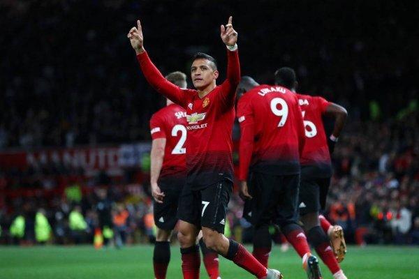 Alexis celebra su regreso al gol en el Manchester United, justo cuando más lo necesitaba su equipo / Foto: Getty Images