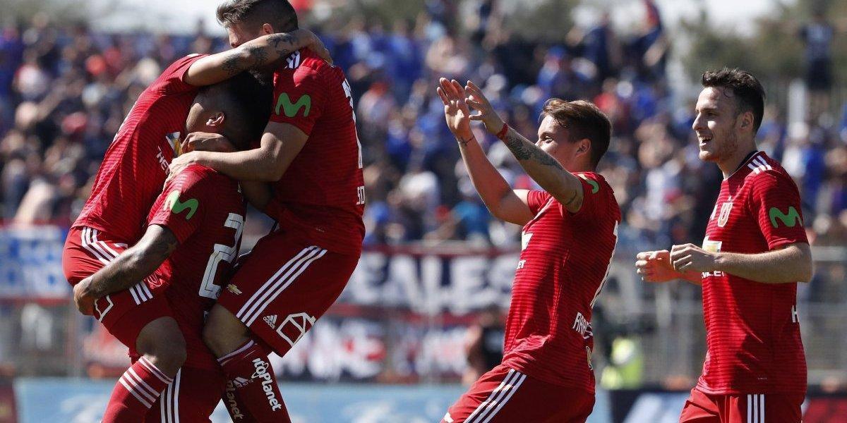 La U venció a Palestino en La Cisterna y mantiene viva su ilusión por el título del Campeonato 2018