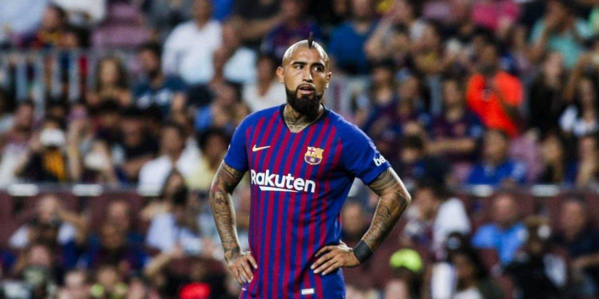 El mensaje de Vidal tras ser suplente en el Barcelona