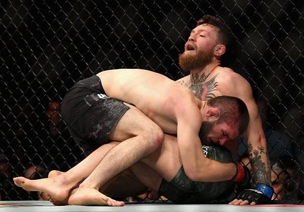 pelea Khabib sobre McGregor Getty