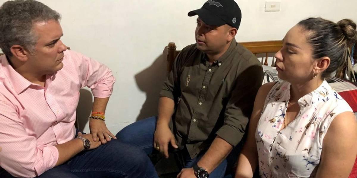 Iván Duque visitó a la familia de niño secuestrado en El Carmen