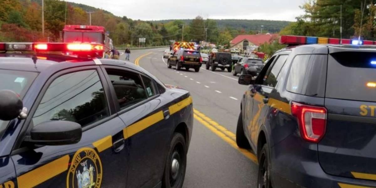 Trágico accidente detránsito deja 20 muertos en Nueva York