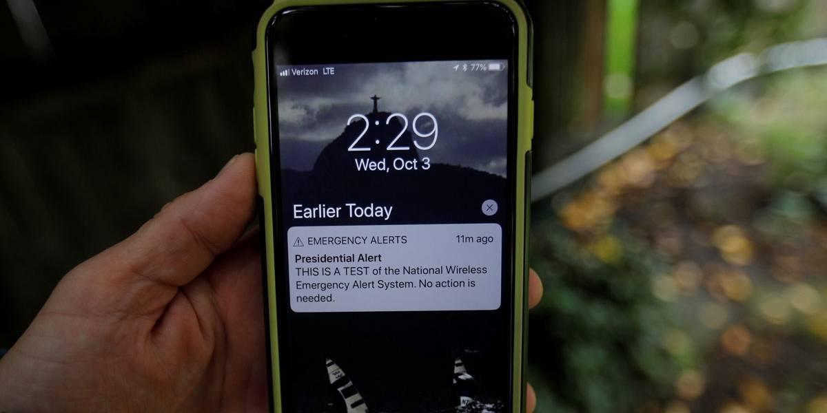 EUA testa mensagem de 'alerta presidencial' pela 1º vez