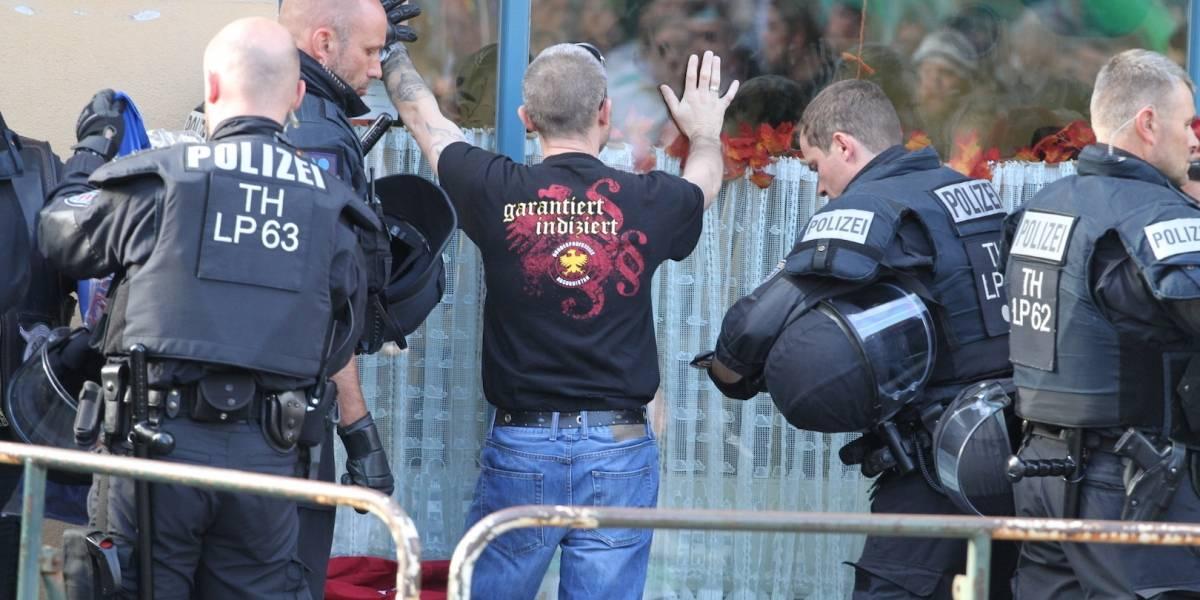 Policía de Alemania suspende festival neonazi por violencia