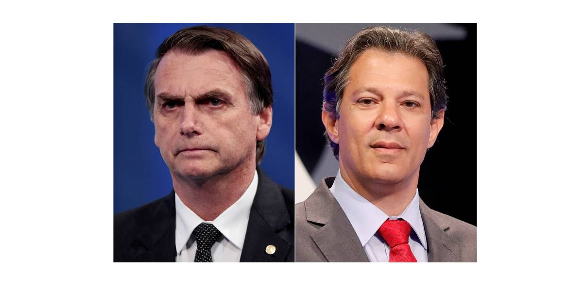 Bolsonaro e Haddad têm bate-boca virtual