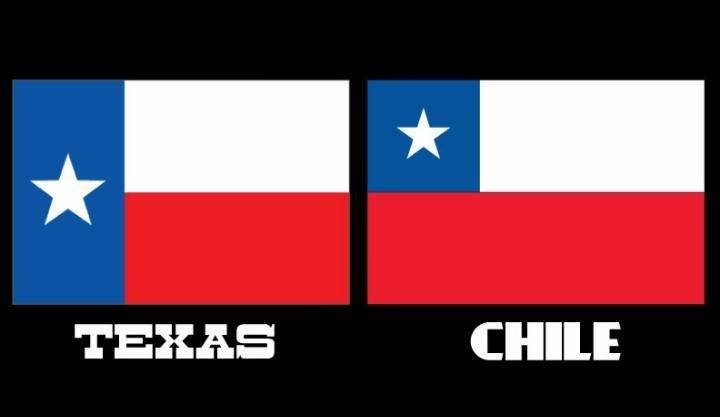 Banderas de Texas y Chile