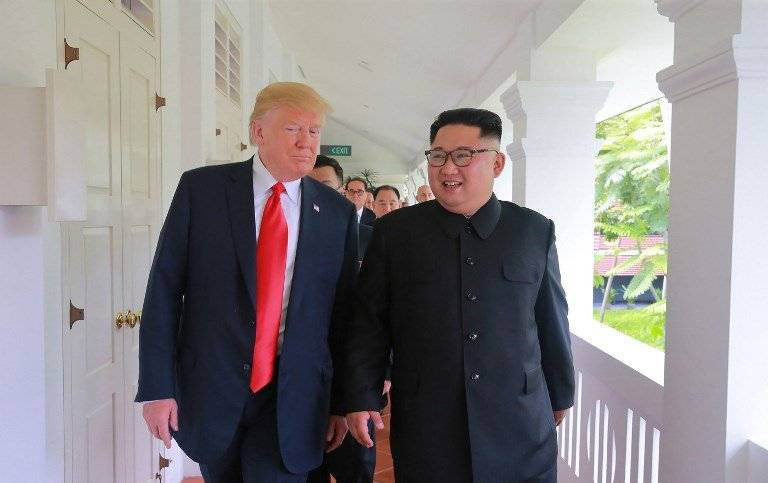 Donald Trump y Kim Jong-un en Singapur