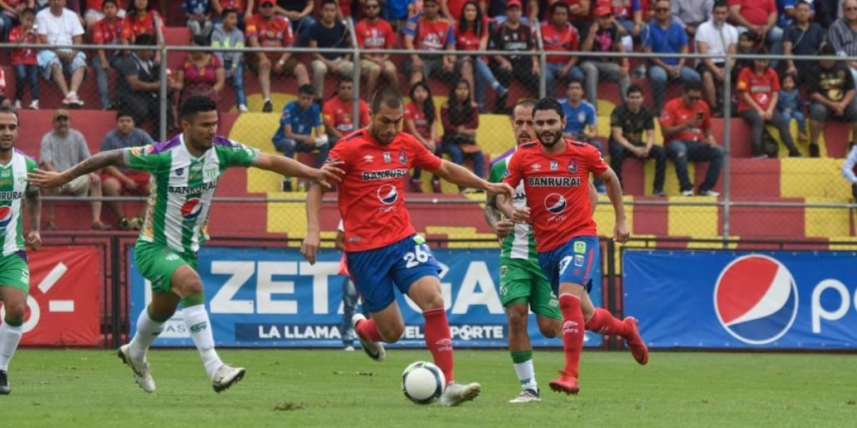 Antigua le saca un empate a Municipal en El Trébol