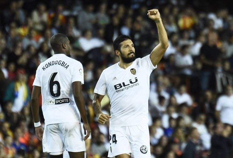 Gol de Ezequiel Garay contra el Valencia
