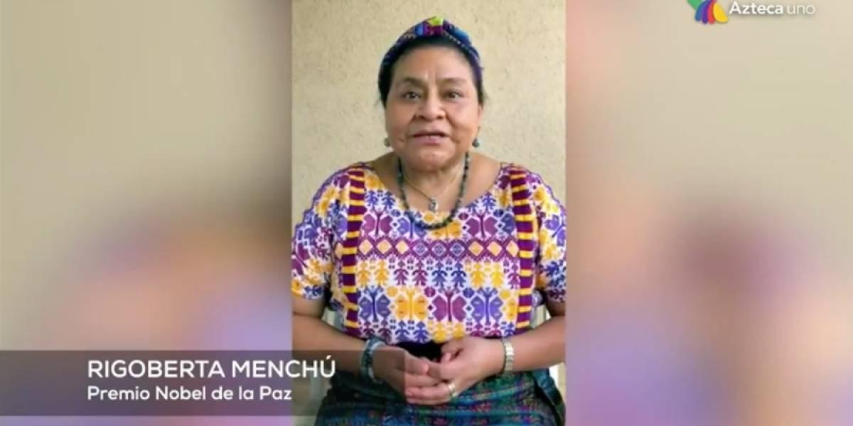 VIDEO. Rigoberta Menchú envía emotivo mensaje a Paola Chuc