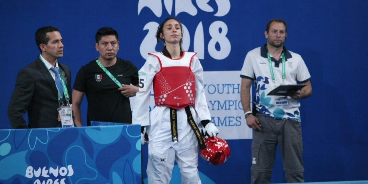 Taekwondoín Alicia Rodríguez da primera medalla a México en los JOJ