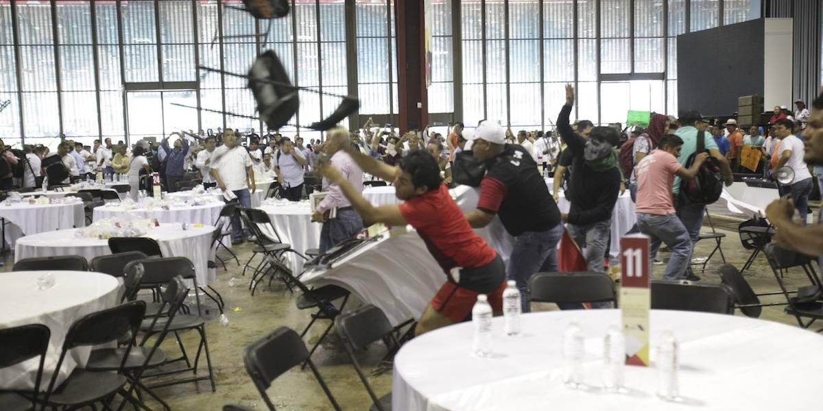A sillazos, suspenden foro sobre consulta educativa en Guerrero