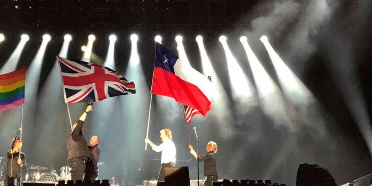 Del banderazo de Piñera al del gran McCartney: gracias sir Paul, por tan emocionante y equivocado saludo a la bandera...
