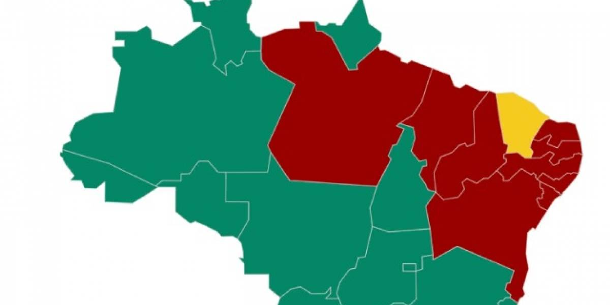 Elecciones en Brasil: el mapa que muestra la división en dos del país (y el único estado donde no ganaron ni Bolsonaro ni Haddad)
