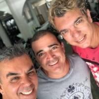 Selfie do dia: os amigos Ivan Aguilar, Kaedy Azevedo e Kady Kettylling