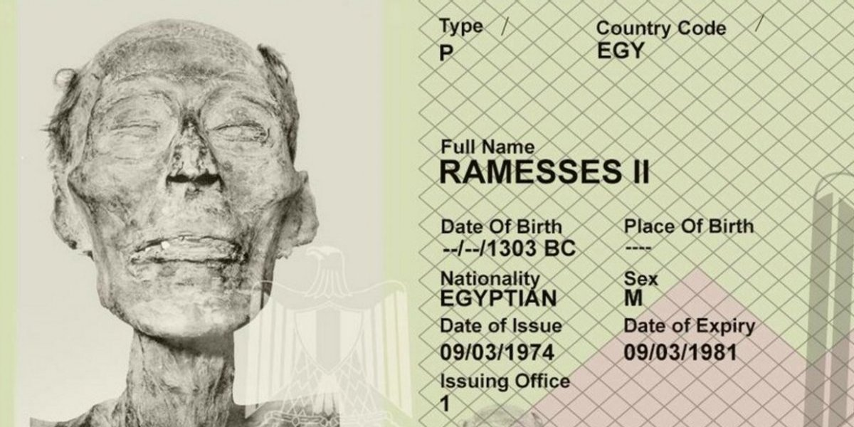 ¿Pasaporte para una momia? El curioso documento de Ramsés II que se vuelve viral