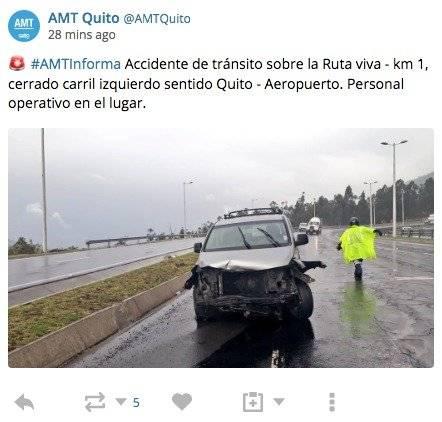 AMT de Quito registró
