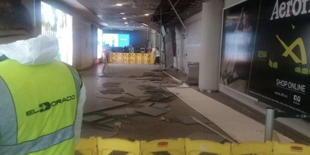 Granizada en Bogotá tumbó techo en el Aeropuerto El Dorado