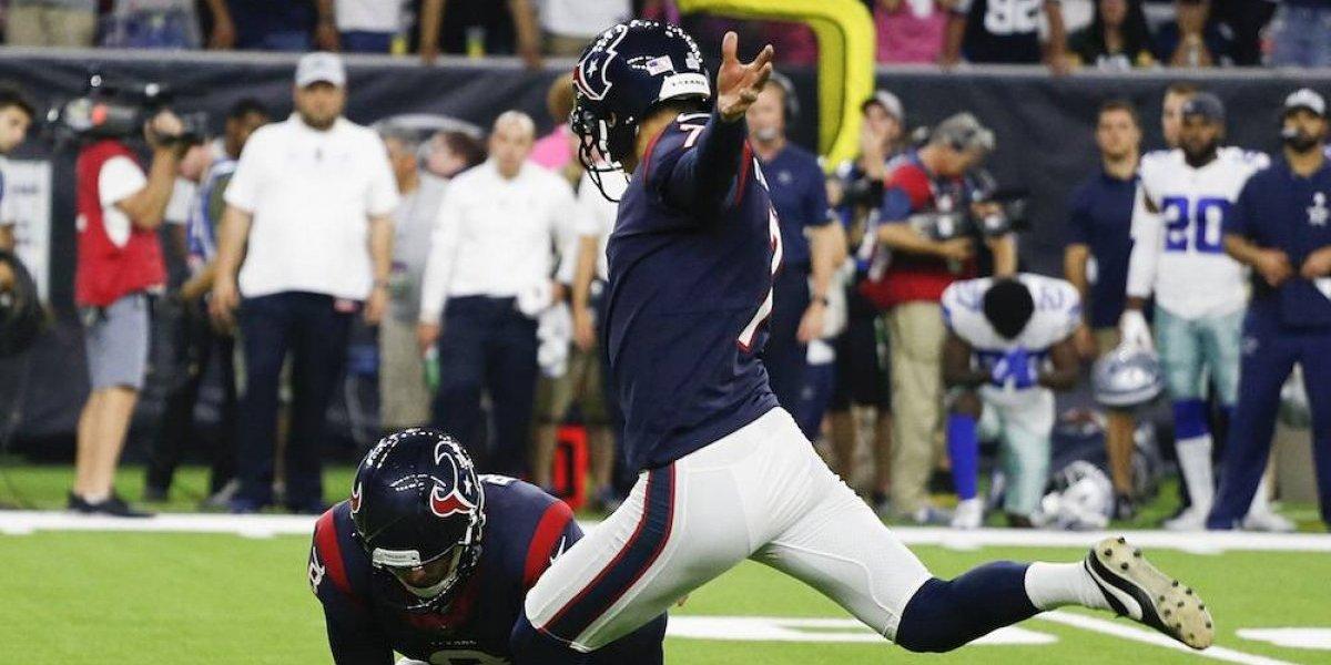 Con gol de campo en tiempo extra, Texans derrotan a Cowboys