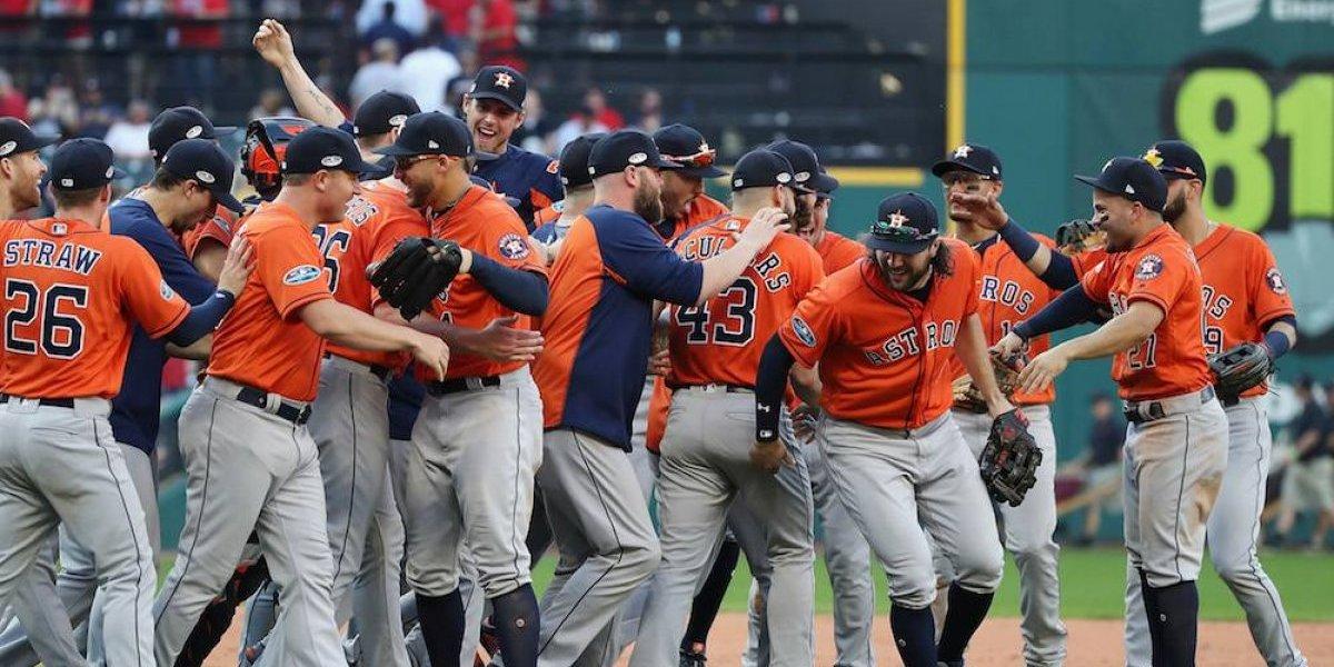 Campeones Astros eliminan a Indios y avanzan a la serie de campeonato