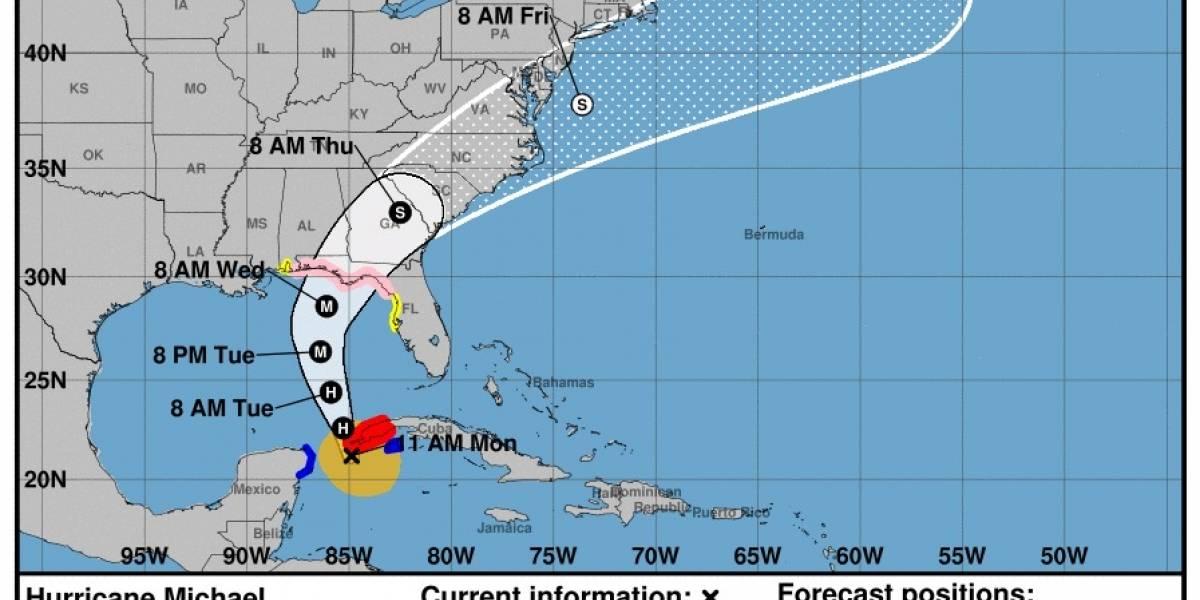 Michael se convierte en huracán categoría 1; se dirige a Florida y Cuba