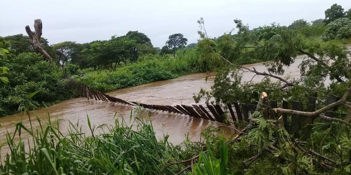 EN IMÁGENES. LLuvias causan estragos en el interior del país
