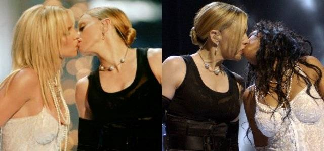 Madonna beso Christina Aguilera y Britney