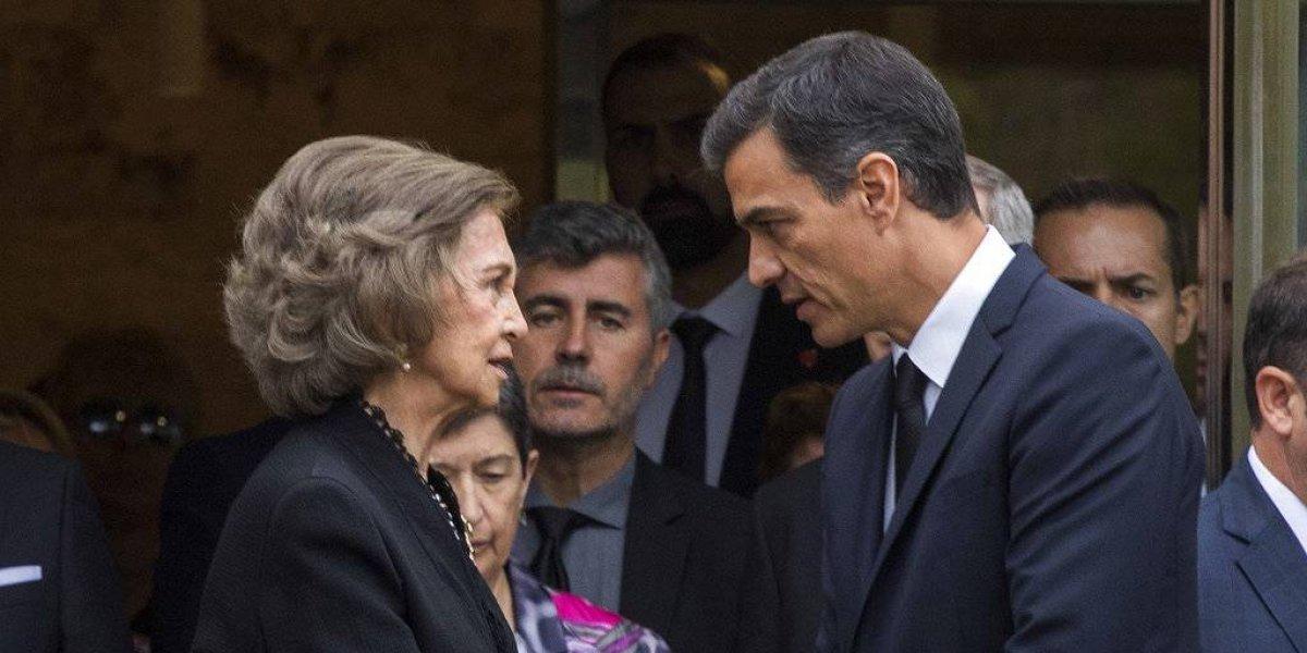 Reina Sofía y Pedro Sánchez asisten al funeral de Montserrat Caballé