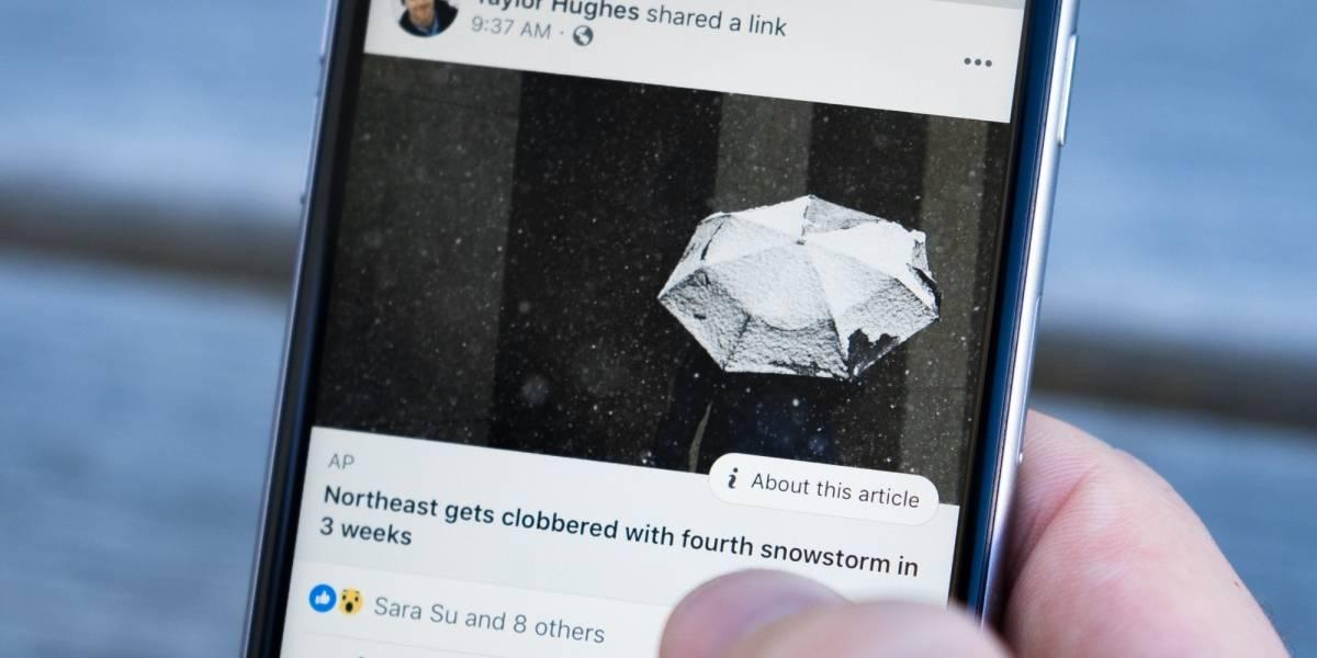 Facebook estrena botón para identificar noticias falsas