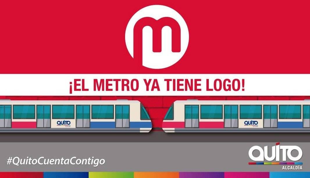 Este es el logo oficial del Metro de Quito