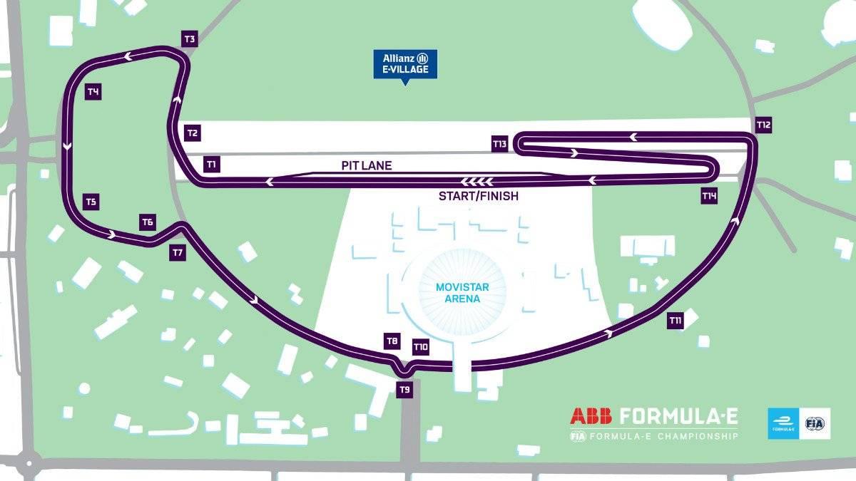 Fórmula E ePrix Santiago 2019 trazado
