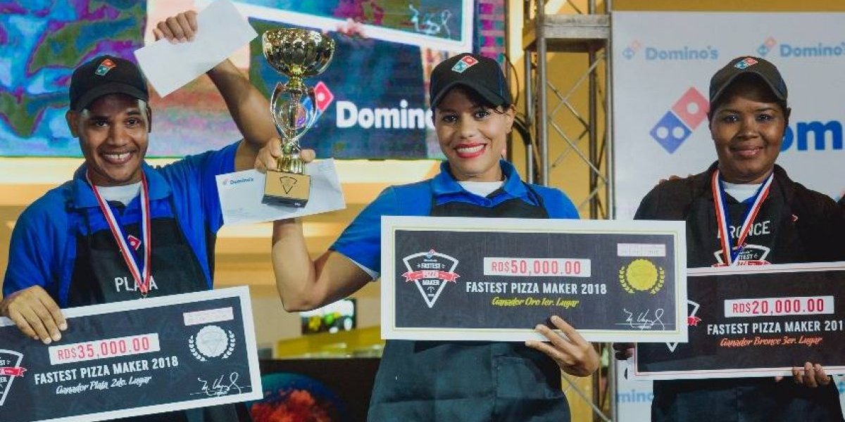 #TeVimosEn: Domino's República Dominicana premia pizzero más rápido del 2018