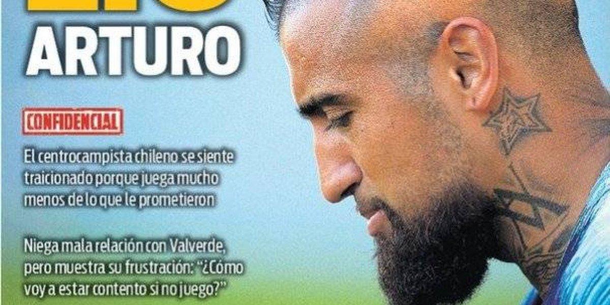 """""""Lío Arturo"""": el """"traicionado"""" Vidal genera preocupación en Barcelona"""