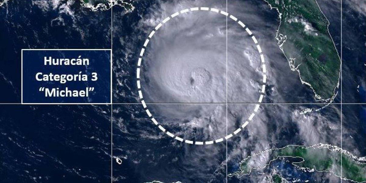 Huracán Michael se intensifica y alcanza categoría 3