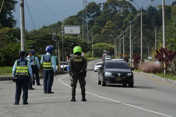 Puesto de control Tránsito Medellín