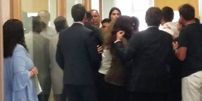 Carlos Salcedo en el juzgado
