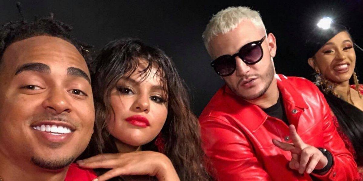 Selena Gomez presume sus movimientos en video con Ozuna, DJ Snake y Cardi B