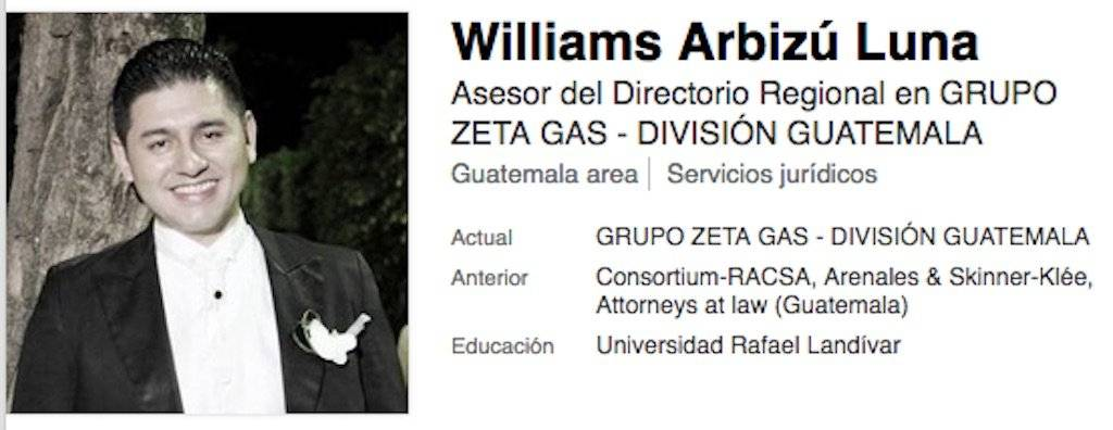 Abogado William Arbizú. Foto: LinkedIn